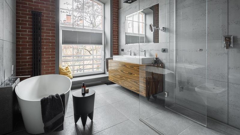 baños estilo industrial